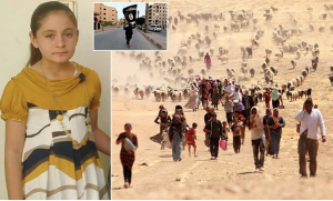 Pregnant at just 10, girl, Marwa Khedr, is trapped as sex slave in ISIS capital as aunt reveals children are beaten with cables by jihadi brides and 'raped by 100 men'…