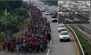 Border agents capture 1,800 illegal immigrants in just one day crossing the U.S. border, as new, hundreds-strong caravan snakes its way north from the tip of Mexico.
