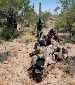 AZ: Pinal sheriff's chopper helps Stonegarden operation detain 18 near Marana – The men, all dressed in camouflage, were from Guatemala, Honduras, El Salvador, and Mexico.