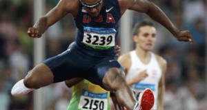 USA Track & Field suspends two-time Olympic champion Angelo Taylor.