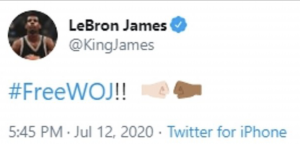 'Free Woj!' LeBron James and other hoop stars declare their support for Adrian Wojnarowski after ESPN suspended its NBA reporter without pay for a profane email response to GOP Senator Josh Hawley.