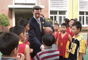 2005: A busy Gavin Newsom (Mayor of San Francisco at the time) connects with China's elite / Senator Dianne Feinstein helped him meet ex-president, Shanghai mayor.