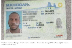 IL 2020: Shipments of nearly 20,000 fake driver's licenses from China seized at Chicago airport.