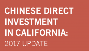 CA is by far the number one recipient of Chinese FDI among US states, attracting more than $26 billion from 2000 to 2016. It hosts nearly 600 Chinese-owned operations, more than any other state.