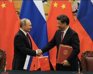 China and Russia ditch dollar in move towards 'financial alliance'.