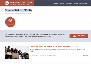 """Riots: Communist Party of Oregon, """"We stand with Portland protesters."""""""