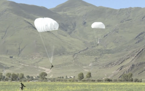 China-India border dispute – armed parachute drills by elite PLA forces point to military build-up.
