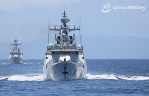 PLA starts real combat-oriented drills in Taiwan Straits amid Krach's visit, approaches island from four directions.