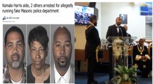 2015: Kamala Harris aide, Brandon Kiel, 31, arrested for running fake Masonic police dept.