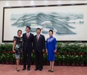 Canada's Trudeau invited China's People's Liberation Army for winter exercises.