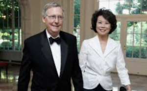 Mitch McConnell's Wife: A 'Bridge' to China, and Her Family's Business, in the Trump Cabinet Elaine Chao has boosted the profile of her family's shipping company, which benefits from industrial policies in China that are roiling the Trump administration.
