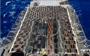 Imagine what has already been smuggled into America: Navy seizes THOUSANDS of Chinese and Russian assault weapons, sniper rifles and anti-tank missiles hidden on ship 'sailing from Iran to Yemen' in the Arabian Sea.