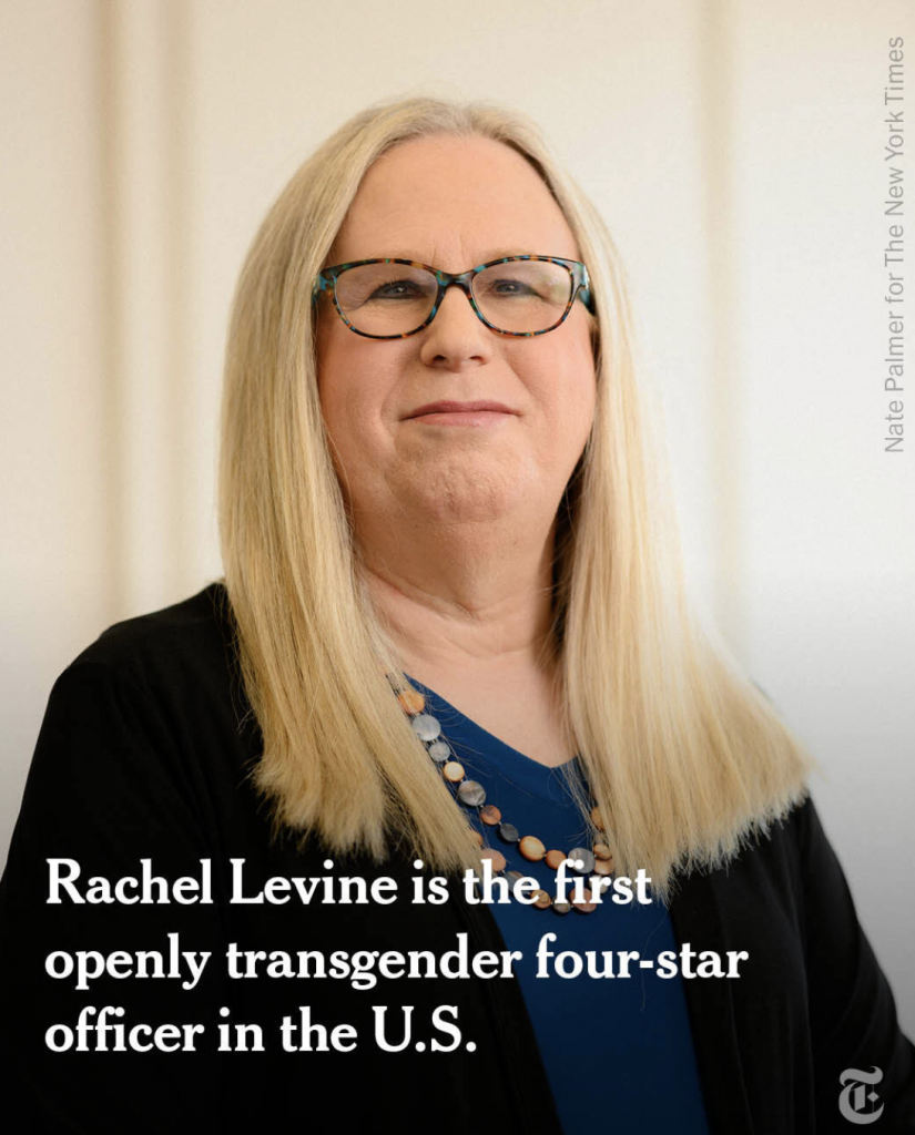 China Laughs: Dr. Rachel Levine was sworn in as  the first female four-star admiral in the history of the U.S. Public Health Service Commissioned Corps, a uniformed service of more than 6,000 health, science and engineering professionals.
